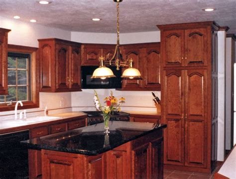 cherry cabinets in kitchen decorating with cherry wood kitchen cabinets my kitchen