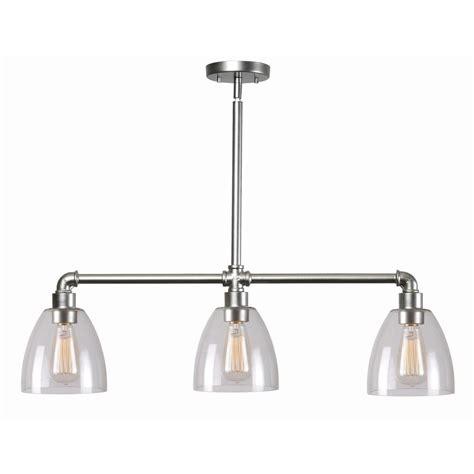 3 light island light kenroy home steam fitter 3 light galvanized island light