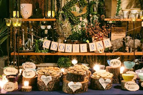 cookie table decorations cookie bar decoration ideas for wedding buffet reception