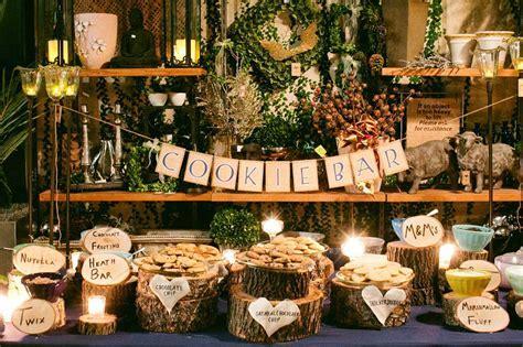 Cookie Bar Decoration Ideas For Wedding Buffet Reception
