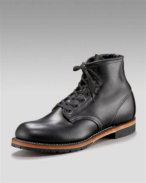 redwing boots for lyst wing beckman boot in black for