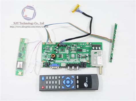 Lcd Tv Controller Board rt6251 tv vga av audio lcd tv controller board driver board kit with remote for