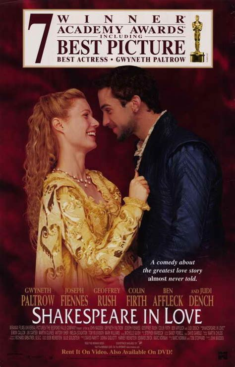 shakespeare in love 1998 comedy movies full english shakespeare in love movie posters from movie poster shop