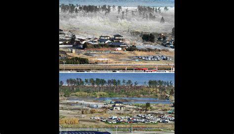 imagenes impactantes tsunami japon 2011 im 225 genes impactantes de jap 243 n antes y despu 233 s del tsunami