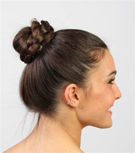 bun with braid around it how to the double braid bun
