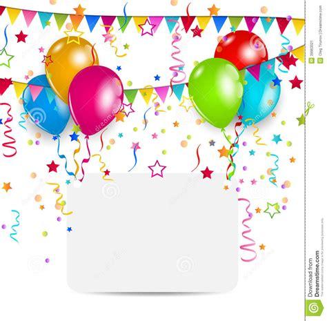 imagenes originales de globos tarjeta de la celebraci 243 n con los globos el confeti y las