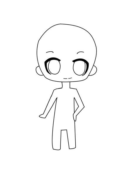 chibi template chibi boy outline pictures to pin on pinsdaddy