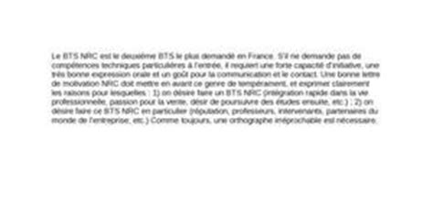Exemple Lettre De Motivation Apb Bts Nrc Exemple Lettre De Motivation Bts Nrc