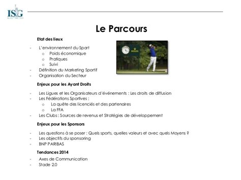 Mba Meaning In Sports by Univers Et Enjeux Du Marketing Sportif