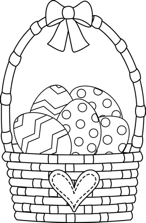 coloring pages for easter basket easter basket coloring pages clipart best