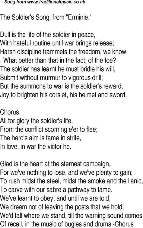 soldier song the soldiers