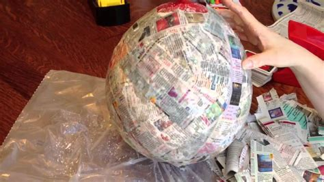 How To Make A Paper Mache Pinata - how to make a paper mache pinata mexican birthday