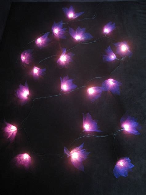battery operated led star lights 20 purple battery operated star flower led string fairy
