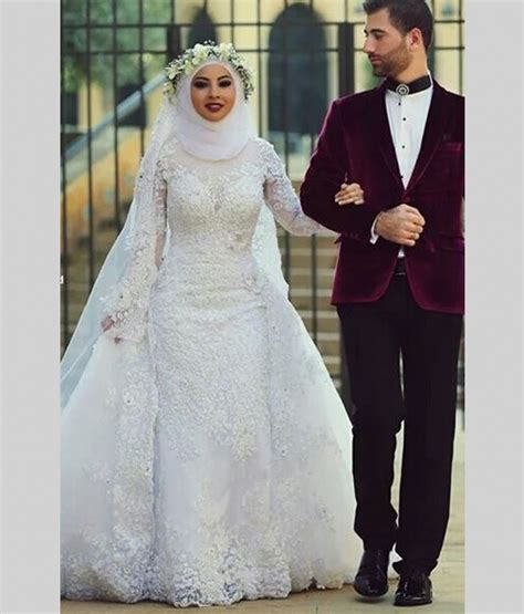 arab saudi arabia muslim wedding dresses sleeve