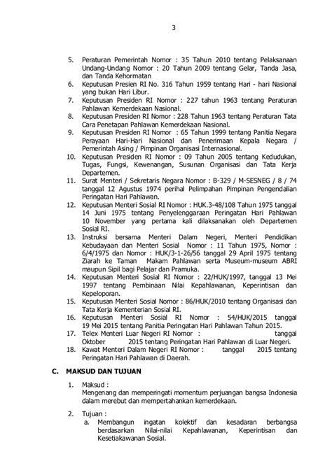 Undang Undang Ri No 32 Tahun 2009 Peraturan Menteri Lingkungan pedoman upacara hari pahlawan