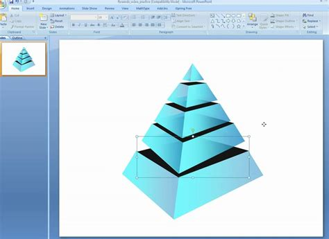 How To Make Additional Layers In 3d Pyramids In Powerpoint 3d Pyramid In Powerpoint