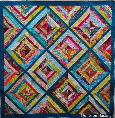 String Quilts by Quilts On Bastings Kaleidoscope String Quilt