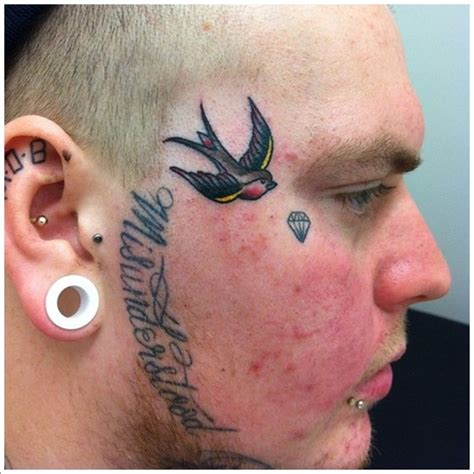 star tattoo on face meaning 40 jaw dropping tattoos that will shock you