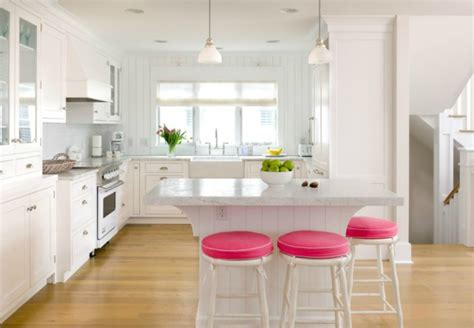 Pink Kitchen Stools by Pops Of Pink In Every Room Yes