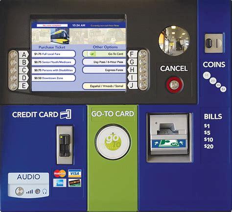 light rail ticket metro ticket machine metro transit