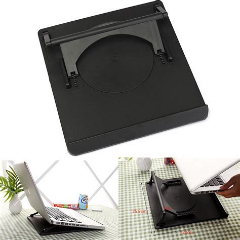 Laptop Cradle Desk Laptop Holder Cooling 360 176 Rotation Stand Mount Notebook Table Desk Swivel Tray Ebay