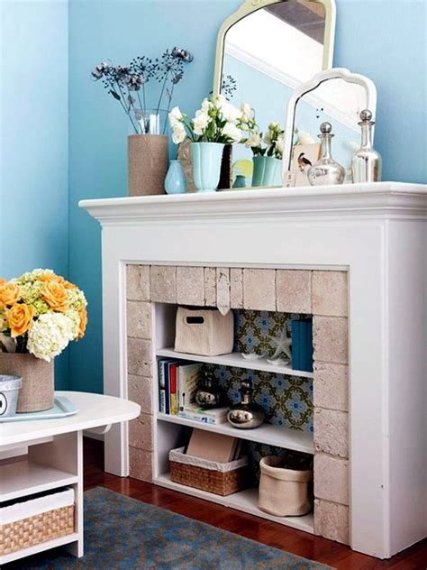 What To Do With Unused Fireplace | decorate the unused fireplace in the living room 20