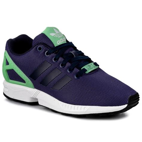 new womens adidas zx flux navy running sports shoes trainers sneakers size 3 8
