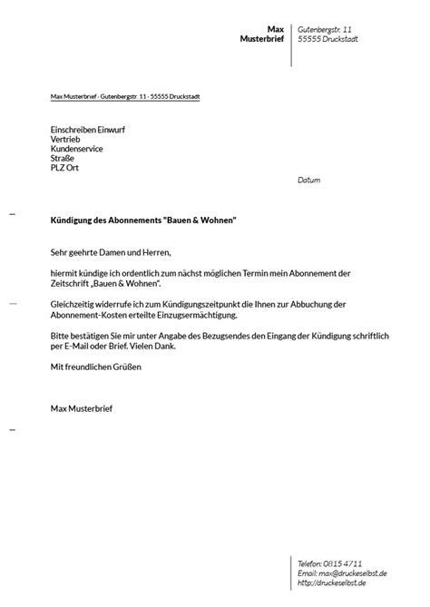 Musterbrief Kündigung Handyvertrag Kostenlos Drucke Selbst Kostenlose Vorlagen F 252 R K 252 Ndigungsschreiben