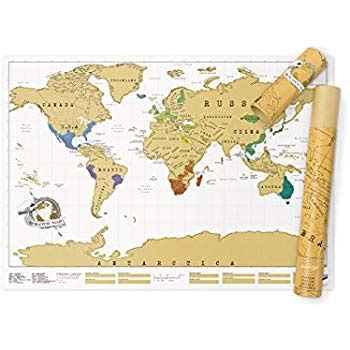 Scratch World Wall Map scratch map original personalized world map