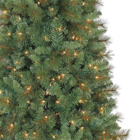 7 ft pre lit green willow pine artificial tree clear lights by ashland