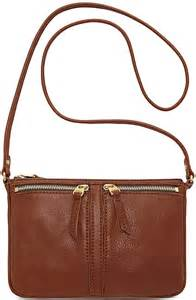 fossil erin leather small top zip crossbody where to buy