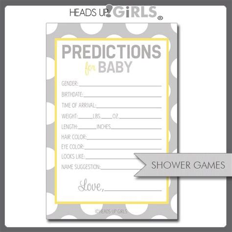 Team Prediction Card Template by Baby Prediction Template