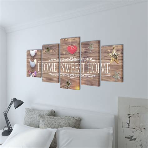 canvas wall print set home sweet home design 79 quot x 39