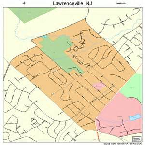 lawrenceville new jersey map 3439570