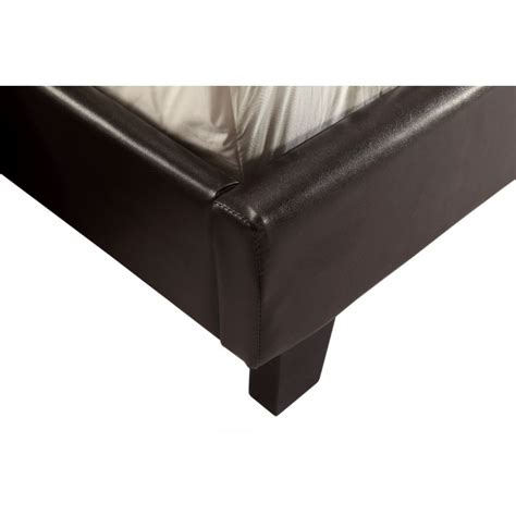 Pu Leather Bed Frame Palermo Size Pu Leather Bed Frame In Brown Buy Bed Frame