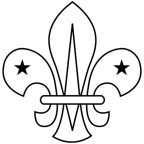 Scout Logo Outline file wikiproject scouting fleur de lis outline svg