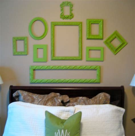 green decor decorating with old picture frames money saving wall