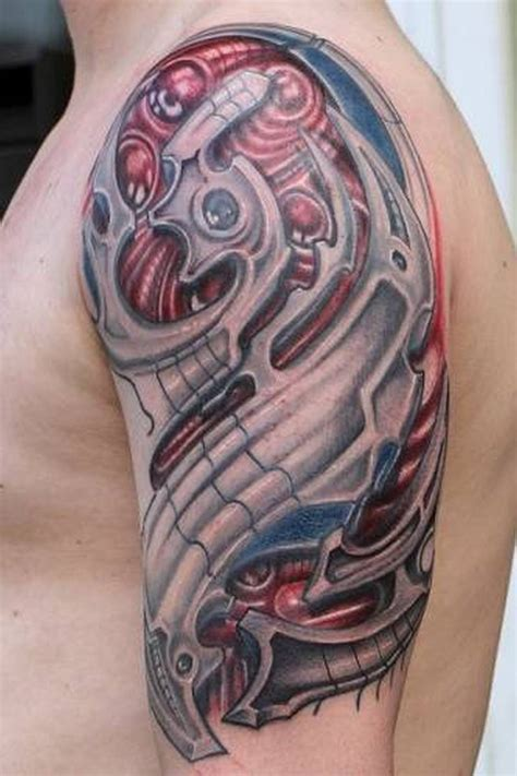 biomech tattoo wonderful half sleeve biomechanical tattoos book