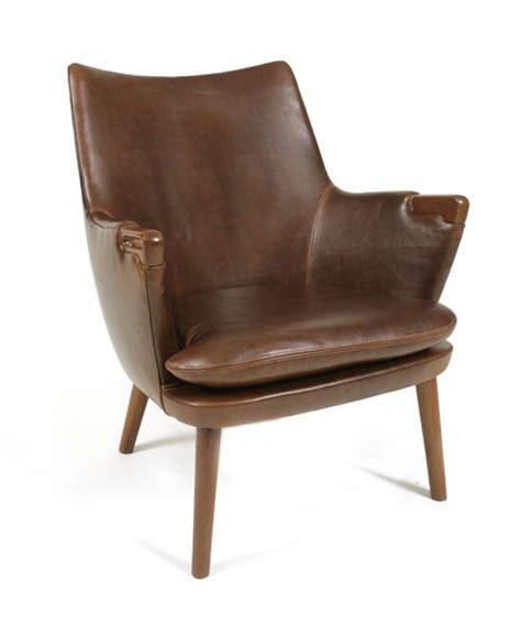 hans wegner lounge chair red modern furniture