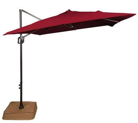 Southern Patio Offset Umbrella Southern Patio Air Flow 7 5 Square Offset Easy Tilt Umbrella Qvc