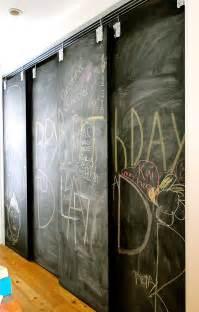 Chalkboard Sliding Closet Doors Remodelaholic 35 Diy Barn Doors Rolling Door Hardware Ideas