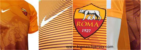 Kaos Serie A Logo Italia jersey pre match as roma orange 2015 big match jersey
