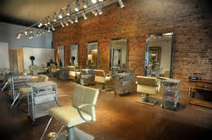 Cool Color Schemes The New River North Salon Which Features Exposed Brick