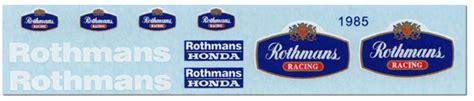 Rothmans Racing Aufkleber by 1 12 Rothmans Decal For Minichs 1985 Honda Nsr500