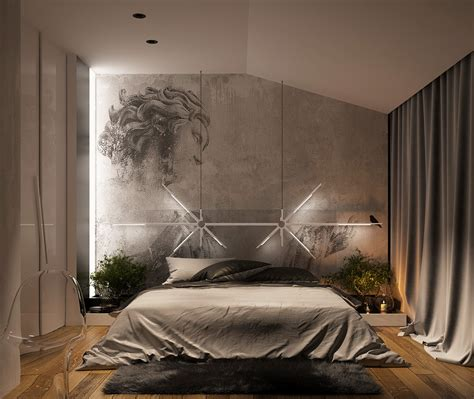 Creative Bedroom Lighting Concrete Wall Designs 30 Striking Bedrooms That Use Concrete Finish Artfully