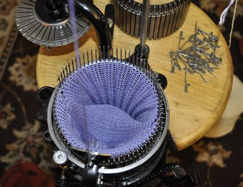 restored sock knitting machines black powder coated legare 400 sock knitting machine for sale