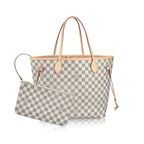 Tas Lv Neverfull Set Monocoklat neverfull mm damier azur canvas handbags louis vuitton