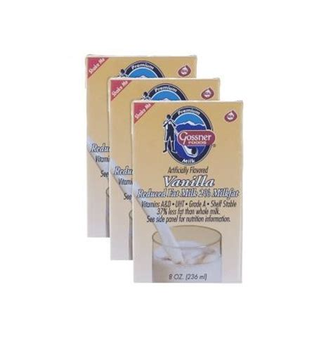 Shelf Stable Milk Boxes by Shelf Stable Reduced 2 Vanilla Milk 8 Oz Box 3 Pack