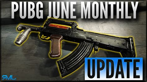 pubg groza pubg june monthly update new weapon groza and g18
