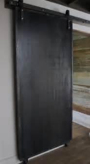 steel barn doors sliding doors reclaimed wood amp raw steel modern